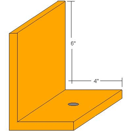 RG Floor Angle 6″X4″X1/2″ Angle – 5 Foot Length 1