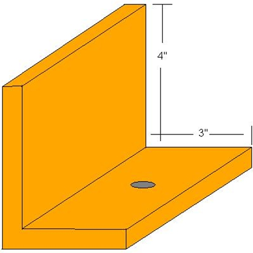 "RG Floor Angle 4""X3""X1/2"" Angle - 5 Foot Length"