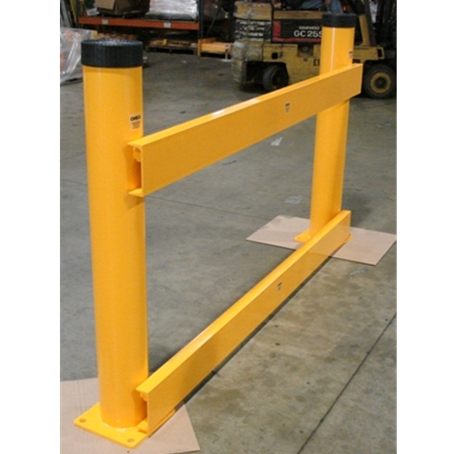 "Pipe Bollard Guard 6"" X 48"" w/ Removable Channel Rails"